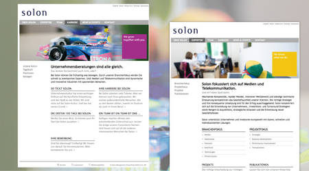 Update des Corporate Designs für Solon Management Consulting