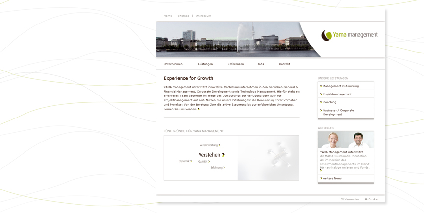 Corporate Design und Website für YAMA management