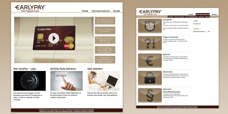 Neue Corporate Website für EarlyPay