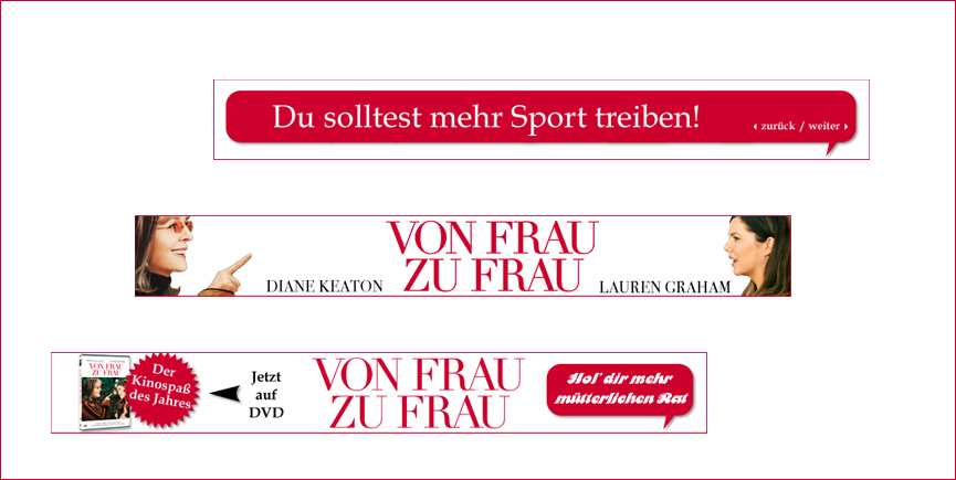 "Online-Marketing für den Film ""Frau zu Frau"" Warner Bros."