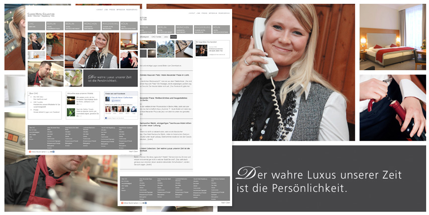 Corporate Website und fünf Hotelsites für Classik Hotel Collection